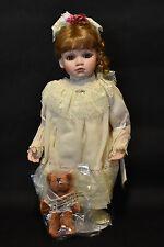 The Hamilton Collection! Amelia! By Virginia Turner! With Cute Teddy Bear!
