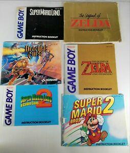 NES and Gameboy 6 Original Instructions Lot-Zelda,Super Mario 2, Castlevania 3,