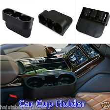 Universal Car Black Cup Holder Drink Bottle Seat Seam Gap Wedge Phone Box Holder