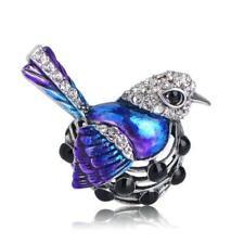 Dazzling Blue Jay Bird Collection Silver Tone Fashion Brooch Pin B03