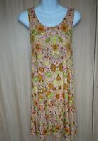 H&M Womens Multicolour Floral A-line Jersey Dress Size M Fit 12/14