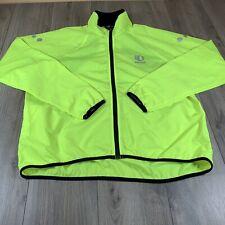 Pearl Izumi Mens Light Weight Size XL cycling jacket yellow black