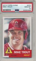 2019 Topps Living Set # 200 MIKE TROUT Gem Mint PSA 10 Los Angeles Angels
