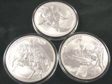 Lot of (3) 1 oz Silver 2017 2018 South Korea Chiwoo Cheonwang Gallus BU Coins