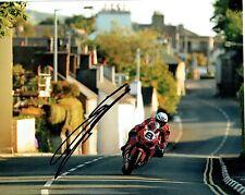 Guy Martin signed 16 x 12 Isle of Man TT 2017 Kirk Michael photograph.