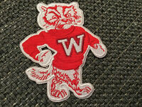 """Wisconsin Badgers Vintage Embroidered Iron on Patch 3.25"""" X 3"""""""