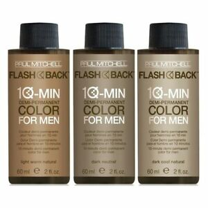 Paul Mitchell FLASH BACK 10-Min Color For Men 2oz (DARK WARM NATURAL)