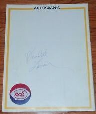Wendell Ladner NY Nets Autographed Yearbook Page-deceased-Tough Autograph!