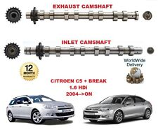 FOR CITROEN C5 + BREAK 1.6 HDi 2004-->ON NEW INLET & EXHAUST ENGINE CAMSHAFT