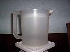 New listing Tupperware 1 1/2 Quart Sheer Pitcher Push Button Plunger Top Country Blue Top
