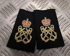 Genuine British Royal Navy Issue Black Petty Officer PO Rank Slides Epaulettes