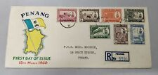 Penang Island  Malaya New Pictorial Postage 7v Stamp Private FDC 15th March 1960