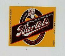 12oz Bartels Beer Bottle Label Brewed by The Lion Inc Wilkes-Baeer Pa