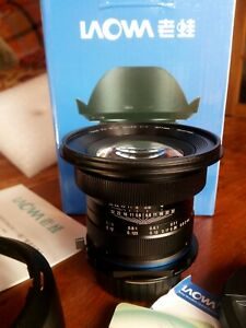 Nikon fit Laowa 15mm f4 wide angle macro lens, mint, unblemished, boxed complete