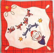 Vintage Howdy Doody Hanky 1988 Leadworks Inc. Cleveland , Ohio
