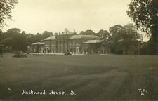 HACKWOOD HOUSE FRONT VIEW C1910 T.H.B. #3 REAL PHOTO POSTCARD