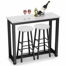 Tribesigns 3-Piece Pub/Bar Table Set Dining Table with 2 Stools for Living Room