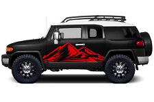 Custom Vinyl Decal Trek Wrap Kit for Toyota FJ Cruiser Parts 2007-2014 Dark Red