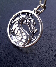 New Mortal Kombat Pendant Necklace Locket Keychain Phone Chain Silver Color