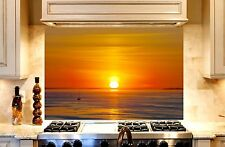 Printed Kitchen Glass Cooker Splashback / Lounge Photo 'Sunset1'  900x600mm