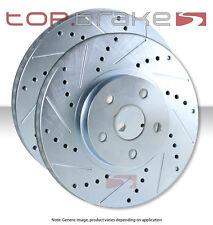 REAR TOPBRAKES Performance Cross Drilled Slotted Brake Disc Rotors TB31603