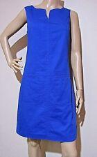 DAVID LAWRENCE size 8 vivid blue weave patterned DRESS with pockets 100% cotton