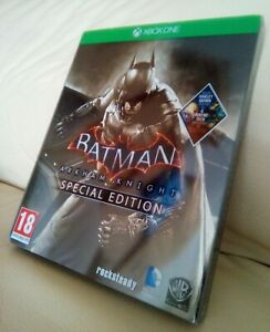 BATMAN ARKHAM KNIGHT SPECIAL EDITION STEELBOOK GAME DLC XBOX ONE NEW UNUSED