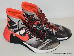 Size 9.5 Nike Hyperdunk 2015 Premium Black Red 749567 160