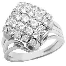 Vintage 1 carat Genuine Diamond E/VVS Pave Platinum Ring Excellent Condition