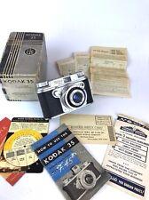 Kodak Vintage  Toyoca 35-S 35S Rangefinder Film Camera Box Owners Paper work