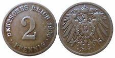 J 11   2 Pfennig Kaiserreich 1906 J in SS-VZ  502856
