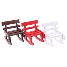 1:12 Dollhouse Miniature Wooden Rocking Chair Furniture Accessories Decor Toy JG