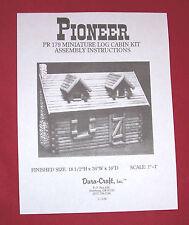 Dura-Craft  *PIONEER LOG CABIN* PR-179  Dollhouse Instructions