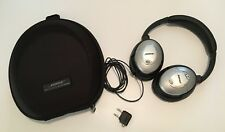 Bose QuietComfort 15 Used Acoustic Noise Cancelling Headphones w/ Case & Adapter