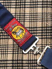 Original 5/A Baker Horse Stable Sheet Blanket 73� Tan Black Blue Plaid