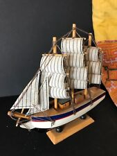 Gaff Rigged Model Sailing Ship on Stand …beautiful collection piece