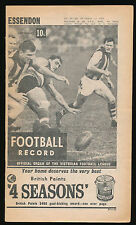 1966 VFL Football Record Essendon v Fitzroy August 13 Bombers Lions