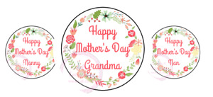 Happy Mothers Day Nanny Nan Flowers Stickers Gift Box Sweet Cones Sweet Hamper