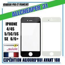 VITRE ÉCRAN TACTILE  POUR iPHONE 4 4S 5 5C 5S SE 6 6PLUS noir blanc + kit outils