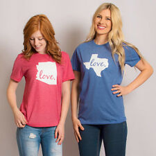 Women Valentine's Day LOVE Letter Printed Short Sleeve T-Shirt Blouse Tops Tee