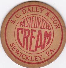 MILK BOTTLE CAP. S. C. DALLY & SON. SEWICKLEY, PA. DAIRY