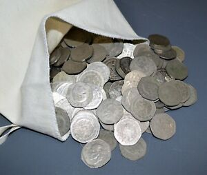 MEXICO lot vintage DIEZ PESOS world S 7-SIDED foreign Mexican 16 COINS