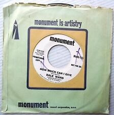 Dale Ward 1968 Teen Pop Promo 45 How Much Can i Give / SATURDAY'S Fool e8917