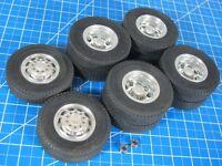 Tamiya R/C 1/14 Aluminum Front & Rear Wheel Rim Terrain Tire King Grand Hauler