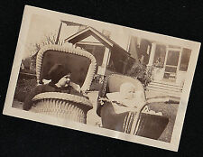 Vintage Antique Photograph Two Babies Side by Side in Wicker Carriages