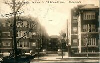 Vtg Postcard 1916 RPPC Chicago Illinois 4008 South Ellis Avenue Street View Car