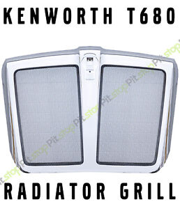 KENWORTH T680 2011-2022 OE TYPE Front GRILLE GRILL Radiator CHROME BUG Screen