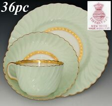 "Vintage Minton Tiffany & Co Somerset 36pc Tea Cup, Saucer & 8"" Dessert Plate Set"
