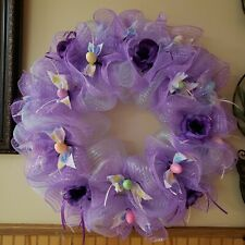 """Valentines ,st Patrick day  Mesh Front Door Wreath Brand New Handmade 20"""" and 14"""