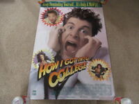 VINTAGE 80s How I Got Into College Promo Video Movie Poster Corey Parker 1989